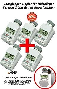 SET 5 x Heizkörper Thermostat Heizregler Thermostatventil Heizkörperregler Neu mit Boostfunktion und inklusive Batterien  BaumarktKritiken und weitere Informationen
