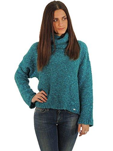 Liu Jo C65207MA53C maglione donna collo alto (42, Blu Petrolio)
