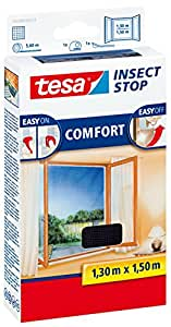 tesa 55388 Insect Stop, Mosquito, Fly & Insect Screen For Inward Opening Windows 1.3mx1.5m White