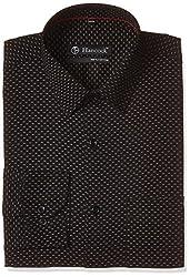 Hancock Men's Formal Shirt (43331Black_40)