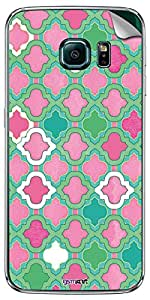 GsmKart SGS6E Mobile Skin for Samsung Galaxy S6 Edge (Green, Galaxy S6 Edge-902)