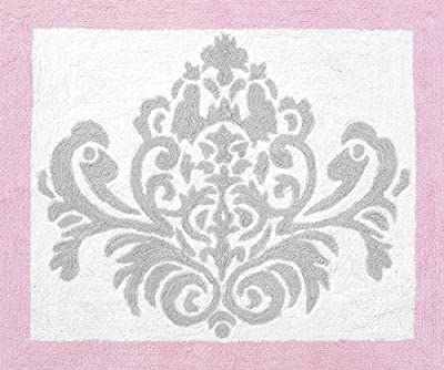 Pink, Gray and White Elizabeth Accent Floor Rug by Sweet Jojo Designs