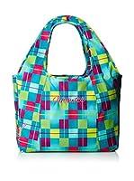 Chiemsee Bolso asa de mano Beachbag (Azul / Fucsia / Amarillo)