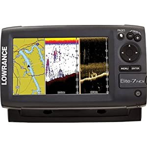 Lowrance Elite-7 Base Combo Dual-imaging Chartplotter with 83 200 455 800 KHz HD... by Lowrance