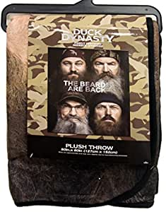 Duck Dynasty's Four Faces Camo Border Throw, 46in X 60in.