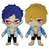 Set of 2 Great Eastern Rei Ryugazaki & Nagisa Hazuki Plush FREE! Anime Series