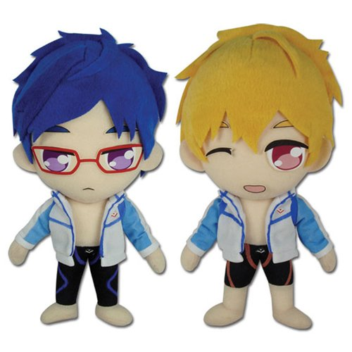 Set of 2 Great Eastern Rei Ryugazaki & Nagisa Hazuki Plush FREE! Anime Series image