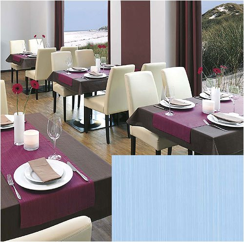 Tischdecke FLAIR 110 x 140 cm, eckig, hellblau,