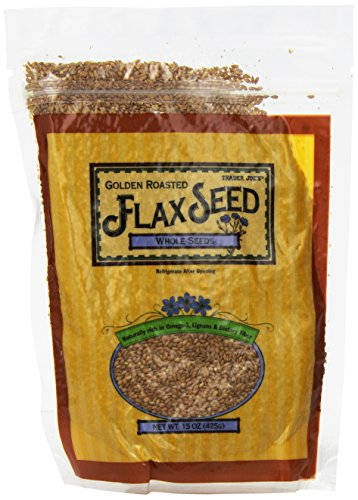 Trader Joe's Golden Roasted Flax Seeds Whole Seeds 15 oz(425g) (Flax Seed Roasted compare prices)