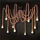QFL Rural rétro industrielles de cordes lustre créatrice américaine restaurant et bar vêtements catalogue pendentifs décoratifs , 110-120v...