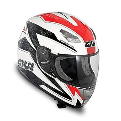 Casque de moto GIVI 50.2F Blanc/ gris/ rouge - XS