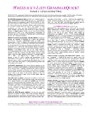 Wheelock's Latin GrammarQuick! (Latin Edition) (0865166668) by Richard A. LaFleur