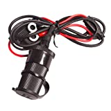 UltimateAddons 12v DC Motorcycle Waterproof Hard-Wire Socket Accessory with 1 Metre Loom