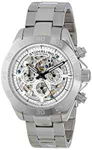 Stuhrling Original Men's 487.01 Symphony Elite Automatic Skeleton Multifunction Stainless Steel Watch