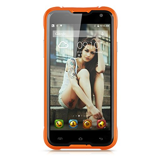 5.0'' Blackview BV5000 4G SmartPhone, IP67 Impermeabile MT6735P, Quad-core, 2GB RAM + 16GB ROM, 5000mAh, Android 5.1, HD 1280 * 720P, 13M (B) + 5M (F), Dual SIM Dual Standby, WIFI / GPS / Reverse Carica - Arancione