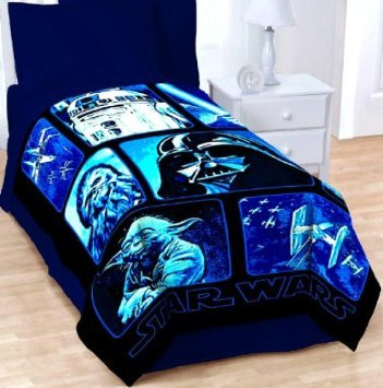 "Review Of Star Wars Micro Plush Raschel Blanket ~ Twin Full Throw 62""x90"""