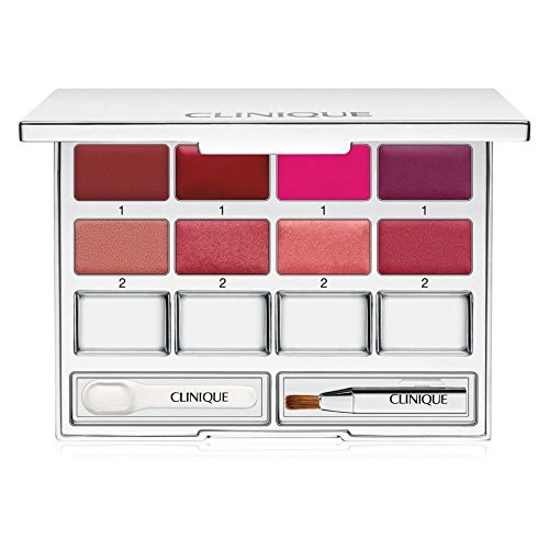 Clinique Pretty Easy Lip Palette 8 Colors Brush Spatula Mirrored Compact NIB (Chocolate Raspberry Lipstick compare prices)