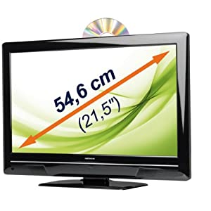 "MEDION MD 21016 54,6cm / 21,5"" FULL HD LED TV mit integriertem DVD-Player & DVB-T Tuner USB MKB Xvid MP4"
