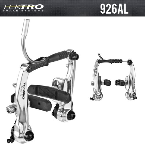 Tektro 926AL Mini V Brake Pull Brakes Silver For BMX Cyclocross Road Tandem