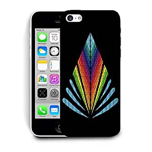 Snoogg Colorful Triangle Designer Protective Back Case Cover For IPHONE 5C