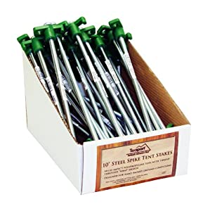Pdq Packed 10 In. Steel Spike Tent Stakes 50 Units