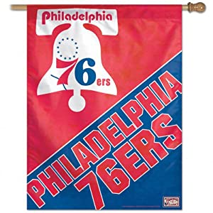 NBA Philadelphia 76Ers 27-by-37-Inch Vertical Flag-Hardwood Classics by WinCraft