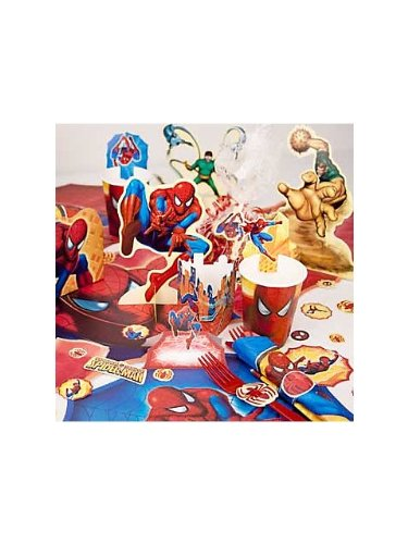 Spiderman Party Supplies Punch-Out Table Decorating Kit