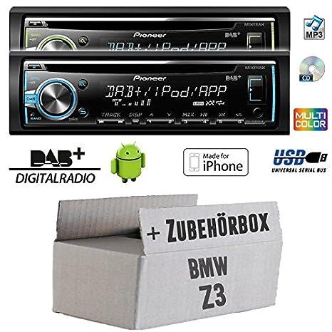 BMW Z3 - Pioneer DEH-X6800DAB - DAB CD/MP3/USB Autoradio - inkl. DAB Antenne - Einbauset