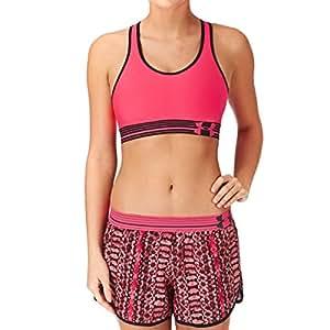 Under Armour Heatgear Alpha Sports Bra - Pink Shock, Black