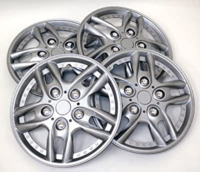 TuningPros Style# 515 Hubcaps Wheel Skin Cover Silver Set of 4
