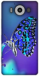 The Racoon lovely butterfly night hard plastic printed back Case for Microsoft Lumia 950