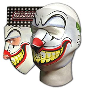 New Joker Clown Neoprene Full Face Mask Muzzle Motorcycle Nose Mouth Adj Size