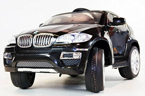 Children Ride On Electric Car Jet Black Bmw X6 With Genuine License Kids Battery Ride On Wheel Motorized Dynamics Remote Control Toy
