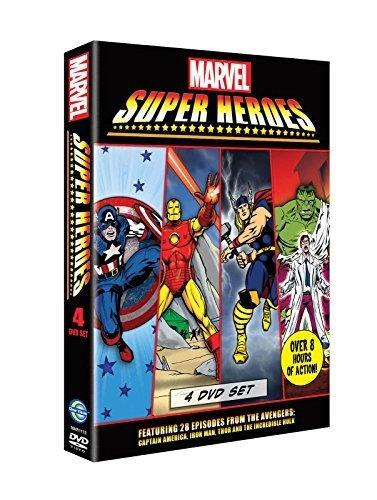 Marvel Super Heroes Dvd Boxset (4 Discs) Iron Man Thor Hulk Captain America [ Non-usa Format, Pal, Reg.2 Import - United Kingdom ] Picture