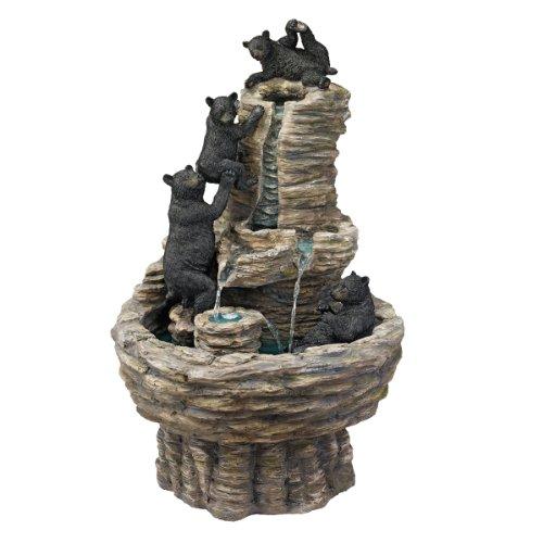 Design Toscano Resin Rocky Mountain Splash Black Bears Garden Fountain (Bear Fountain compare prices)