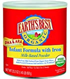 Earth's Best Organic, Infant Formula with Iron, 23.2 Ounce (Pack of 4)