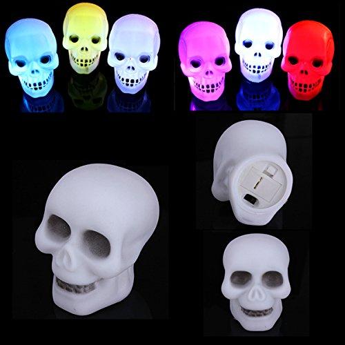 Regalo decorazioni colorate LED Flash Skull notte partito della lampada della luce