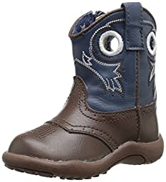 Roper Holey Square Toe Cowboy Boot (Infant/Toddler/Little Kid/Big Kid), Brown, 1 M US Infant