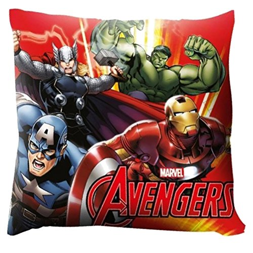 Marvel Avengers - Cuscino stampato 40x40cm Captain America Iron Man Thor Hulk