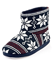 Snowflake Boot Slippers