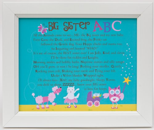 The Grandparent Gift Framed Print Wall Decor, Big Sister ABC