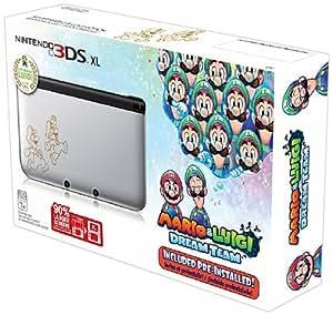 Nintendo 3DS XL, Silver - Mario & Luigi Dream team Limited Edition
