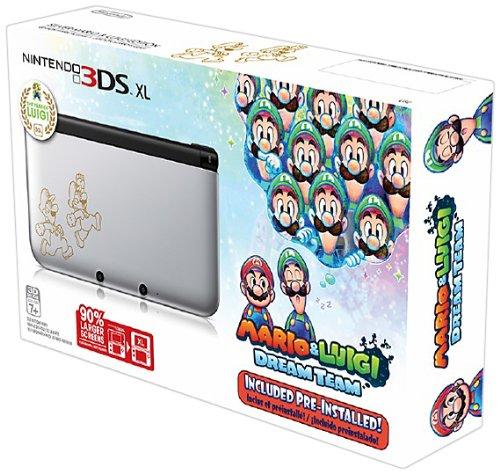 Nintendo 3DS XL, Silver - Mario & Luigi Dream