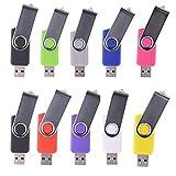 LHN® (Bulk 10 Pack) 8GB Swivel USB Flash Drive USB 2.0 Memory Stick (9 Colors)