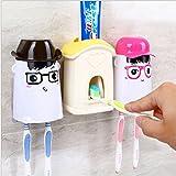 JJPUNK Badezimmer Kinder Cartoon Wand Automatische Zahnpasta Spender Einfach Squeezer