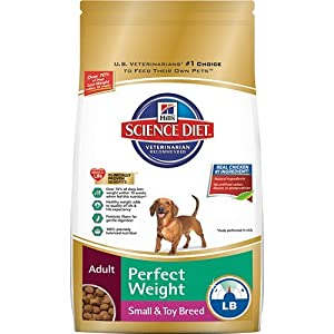 Hill's Science Diet Adult Perfect Weight Small and Toy Breed Dry Dog Food Bag, 4-Pound