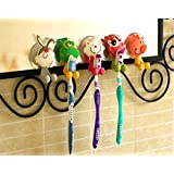 Antibacterial Toothbrush Suction Cup Cover Holder with Suction Cup, animal, 5