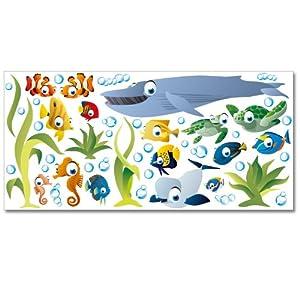 Adesivi murali Wandkings Mondo sottomarino oceanico in kit XL  50 adesivi su una superficie di circa 130 x 70 cm   Valutazioni Valutazione