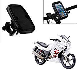 Auto Pearl -Waterproof Motorcycle Bikes Bicycle Handlebar Mount Holder Case(Upto 5.5 inches) For Cell Phone - Hero MotoCorp Karizma ZMR