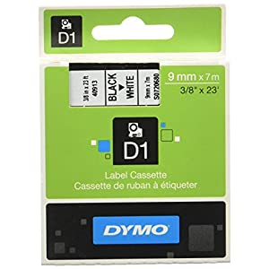 Dymo D1 Standard Self-Adhesive Labels for LabelManager Printers, 9 mm x 7 m - Red Print on White